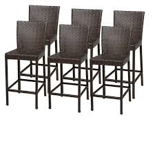 Bar Stools  Outdoor Wicker Bar Stools With Backs Seagrass Bar Outdoor Wicker Bar Furniture