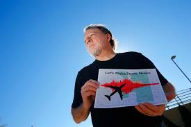 researchers airport noise complaints come from frustrated 6 2015 photo steve dreiseszun a resident of the f q story historic district in phoenix holds a graph of the increased noise brought on by airplanes