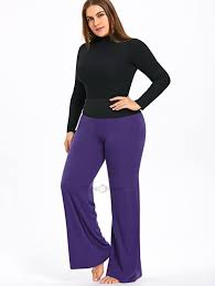 lilly munster costume plus size dropship plus size high waisted two tone palazzo pants to sell