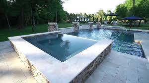 Geometric Swimming Pool Designs Geometric Pool Design With Spa Beach Entry Backyard Oasis