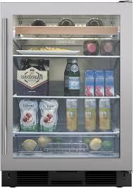 Undercounter Beverage Refrigerator Glass Door Compact Beverage Centers