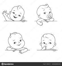 Baby Boy Girl Blank Frame Smiling Toddler Logotype Template