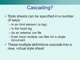 cascade style sheet cascading style sheets ppt video online download