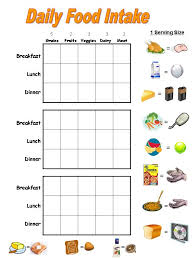 3 Day Food Chart Resource Food Charts Kids Nutrition