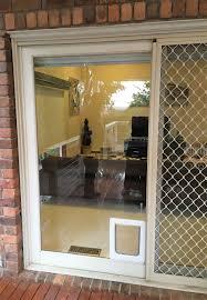 glass door. Small Pet Cat Flap \u0026 Dog Door For Glass, Security Screen Fitting Installations Glass
