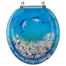 gold foil toilet seat. decorative toilet seat dolphin design std round gold foil
