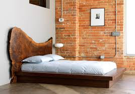 Image of: Rustic Ideas Wooden Bed