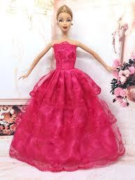 Barbie Princess Dress Design Princess Doll Wedding Dress Noble Party Gown For Barbie Doll