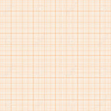 Vector Orange Metric Graph Paper Seamless Pattern 1mm Grid Accented