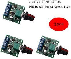 CHENBO <b>3Pcs DC</b> 1.8V <b>3V</b> 5V 6V 12V 2A PWM Motor Speed ...