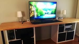 Custom Ikea Desk...random pieces to create a long desk!