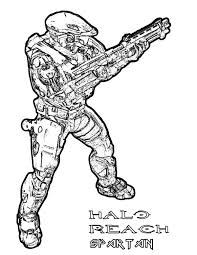 Small Picture Halo Reach Spartan Army Coloring Pages Bulk Color