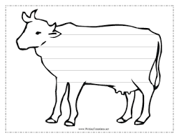 Cow Template Cow Writing Template Writing Template