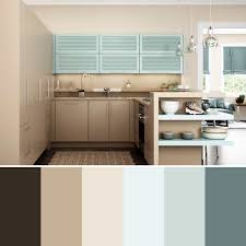 gray blue and brown kitchen color scheme