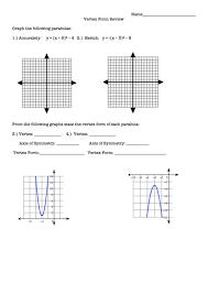 graphing parabolas in vertex form