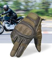 mens hard knuckle leather motorcycle gloves accessories