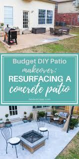 budget diy patio makeover