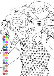 Small Picture Barbie Coloring Pages Barbie Activity Games YouTube