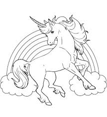 Coloring Pages Printable Unicorn Rainbow Coloring Pages Free