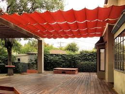 fabric wire deck patio canopy ideas