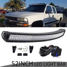 99 Tahoe Light Bar 50in Curved Led Light Bar Combo Offroad For 99 06 Chevy