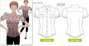 Blouse Sewing Pattern Delectable StyleArc Felicity Blouse