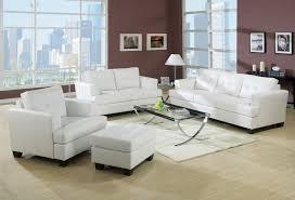 acme platinum white sofa set sofa loveseat chair contemporary white bonded leather tufted back couch plush 3pc set com