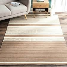 brown and white striped rug mercury row ivory