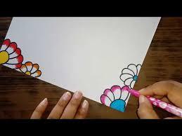 Flower Decoration Design Paper Border Design Chart Paper