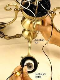 rewire a chandelier step 3 test wires rewire brass chandelier