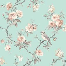 Shabby Chic Bedroom Wallpaper Beautiful Birds Themed Wallpapers In Various Designs Feature Wall