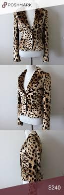 Dolce And Gabbana Jacket Size Chart Dolce Gabbana Velour Leopard Blazer Jacket It 40 Authentic