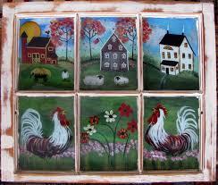 Antique Windows Painting Scenes On Old Windows Antique Furniture Antique