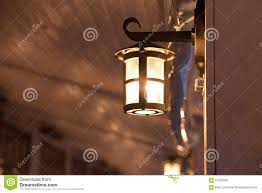 Lantern Lamp Decoration Exterior In Cafe Stock Image Image Of