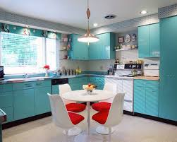Floating Kitchen Floor Kitchen Table Chairs Stainless Steel Sink Retro Kitchens White