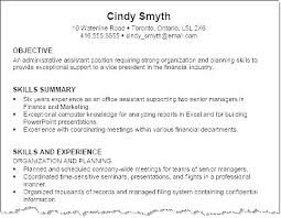 Professional Objectives For Resume Sample Career Objective For Bank