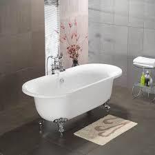 cambridge 70 inch acrylic clawfoot double ended bathtub