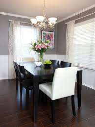 decorating ideas for dining rooms walls beautiful chair rail molding divides two toned walls in this
