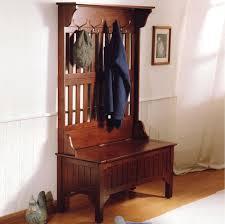 Cherry Finish Wood Hall Tree Coat Rack Furniture Minimalist Entryway Bench and Coat Rack New Hall Tree 95