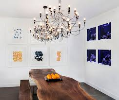 raw edge dining table. View In Gallery Aquariums Used As An Artistic Addition To The Modern Dining Room With Live Edge Table [ Raw