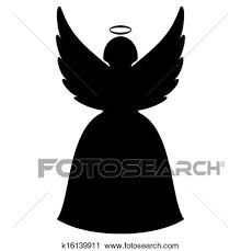 christmas angel silhouette clip art. Christmas Angel Silhouette With Clip Art