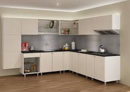 f awesome kitchen ideas with glossy white l shape kitchen cabinets innexpensive combine black countertop by single bath sink and connected wall cabinets awesome kitchen cabinet