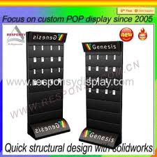 Mobile Phone Accessories Display Stand Simple Slatwall Mobile Phone Accessory Display Floor POS Accessories