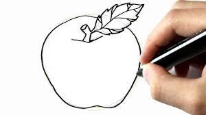 Comment Dessiner Une Pomme Youtube Dessin De Pomme L
