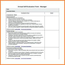 Free Basic Employee Self Evaluation Form From Yearly Performance ...