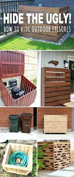 hide outdoor trash can hide the ugly o how to hide outdoor eyesores o lots of hide outdoor trash can