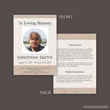 Funeral Program Template Funeral Card Template Funeral Programs