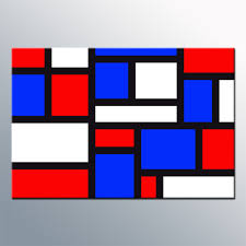 red white n blue mondrian inspired wall art canvas print on blue and white canvas wall art with red white n blue abstract canvas wall art print 20x30 inch 52x77