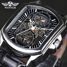aliexpress com buy winner vintage classic designer silver winner vintage classic designer silver stainless steel case men watches top brand luxury mechanical automatic watch
