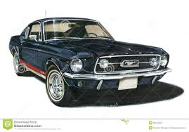 1967 Ford Mustang GT Fastback Editorial Photography - Illustration ...